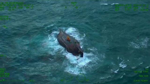 Tekneleri ters dönen balıkçılar böyle kurtarıldı