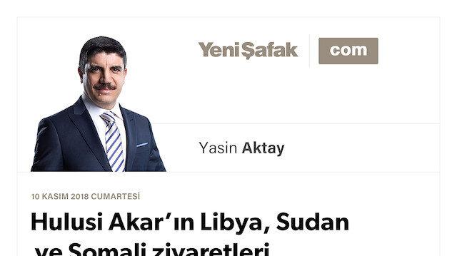 Hulusi Akar'ın Libya, Sudan ve Somali ziyaretleri