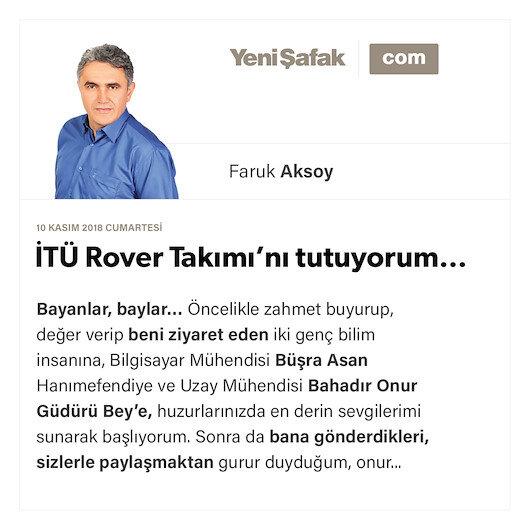 İTÜ Rover Takımı'nı tutuyorum…
