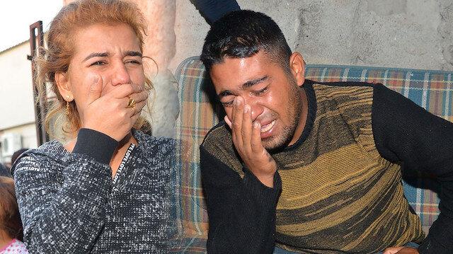 Evleri yanan çift gözyaşlarını tutamadı.