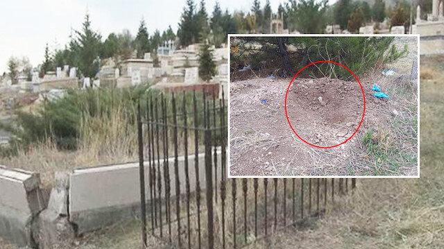 Topraklık alanda köpeğin eşelemesi sonucu ortaya çıkan bebek cesedinin 5 aylık olduğu tespit edildi.