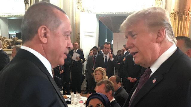 Erdoğan ile Trump Paris'te bir araya geldi