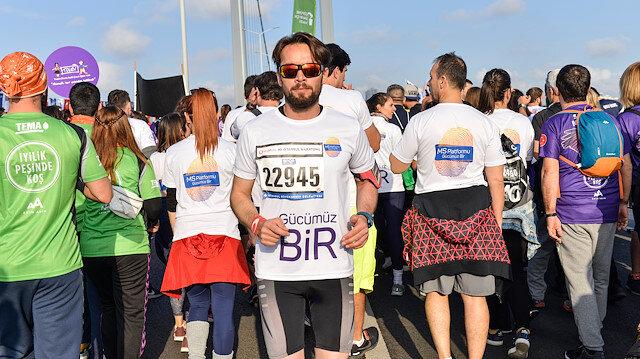 İstanbul Maratonu'nu ters koştu