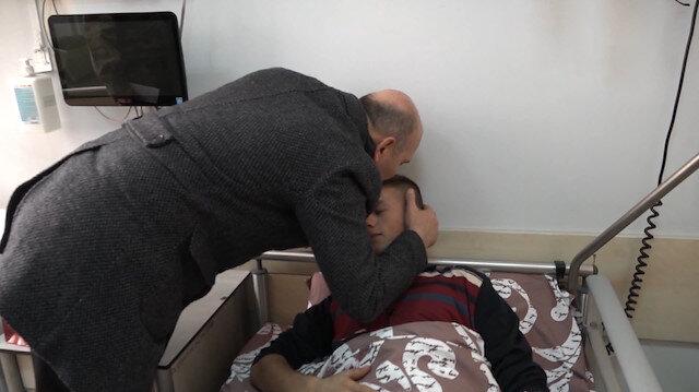 Bakan Soylu Hakkari'de yaralı askerlerimizi ziyaret etti