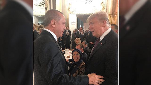 Cumhurbaşkanı Erdoğan ile ABD Başkanı Trump, Paris'teki yemekte bir süre sohbet etti