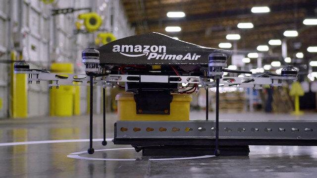 Amazon'un kendisine ait kargo şirketi Amazon Prime Air'in deposu.