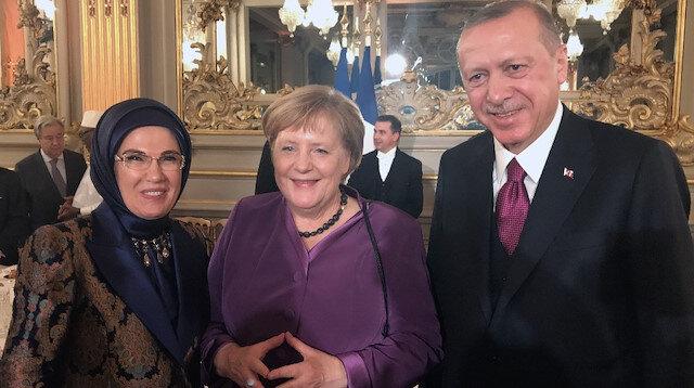 Erdoğan Paris'te pek çok liderle görüştü