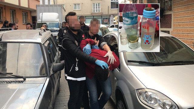 Biberonla bağımlılara uyuşturucu kullandıran torbacı tutuklandı