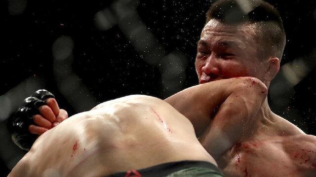 مقاتل مكسيكي يصعق منافسه الكوري بضربة قاضية
