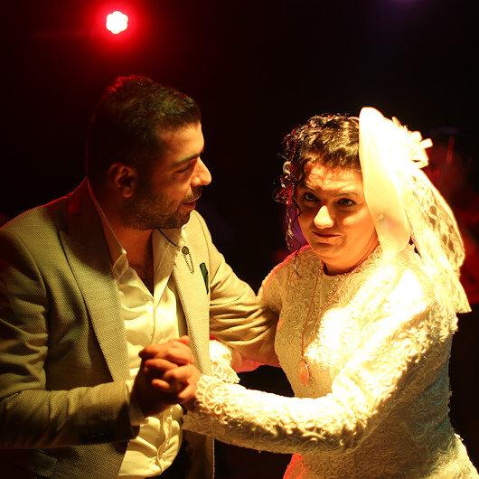 Tuba'nın gelinlik hayali temsili düğünle gerçek oldu