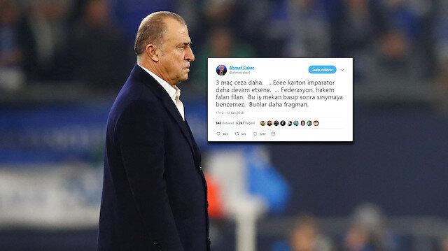 Ahmet Çakar'dan Galatasaraylıları çıldırtan Terim paylaşımı
