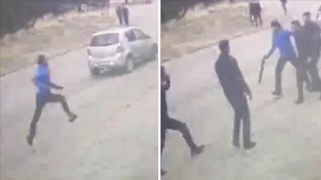 Eski kız arkadaşının sevgilisini dövüp pompalıyla kaçırmaya çalıştı
