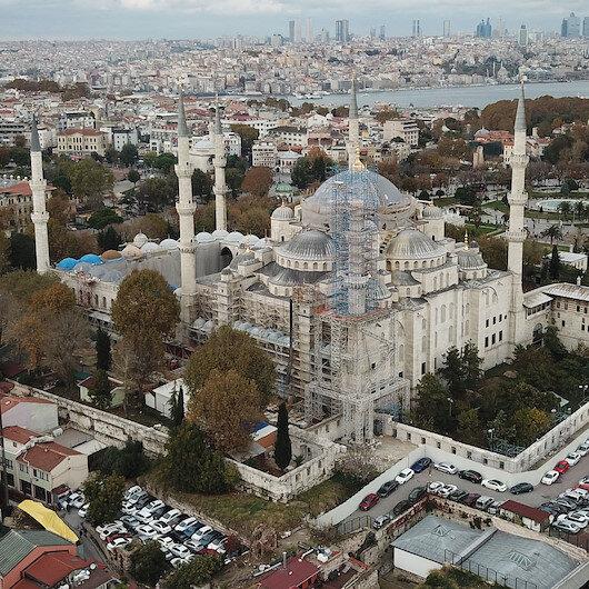 Sultanahmet Camii'nde şaşırtan görüntü