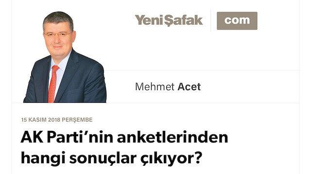AK Parti'nin anketlerinden hangi sonuçlar çıkıyor?