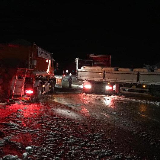Buzlanma nedeniyle Kop Dağı Geçidi ulaşıma kapandı