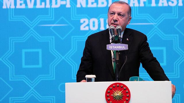 Cumhurbaşkanı Erdoğan'dan Diyanet'e destek mesajı