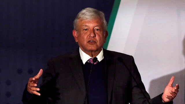 President-elect Andres Manuel Lopez Obrador talks about his security plan to the media, before he takes office as Mexican President on the December 1, in Mexico City, Mexico.