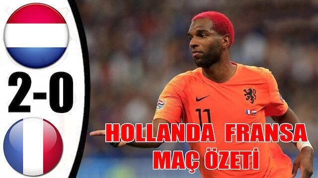Hollanda-Fransa maç özeti ve golleri (2-0)