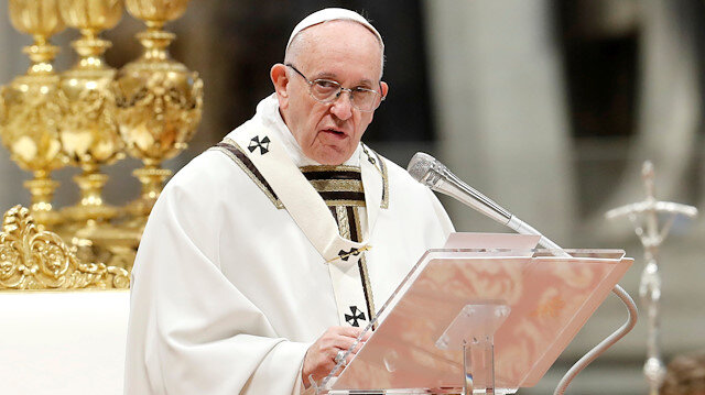 Pope says world mustn't turn a blind eye to migrants, the poor