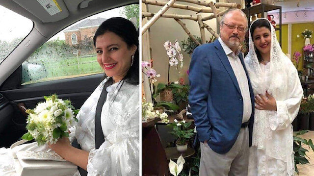 Slain Saudi Journalist Jamal Khashoggi and the woman claiming to be his wife