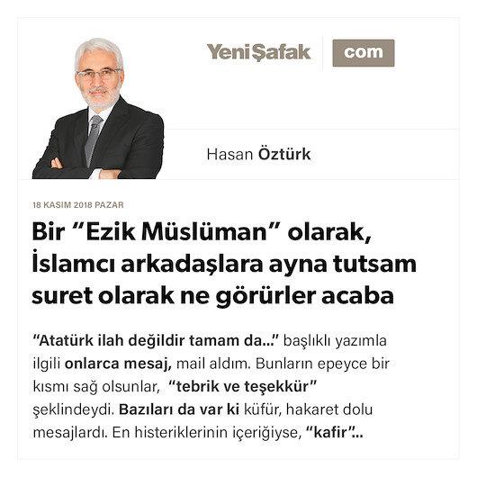 """Bir """"Ezik Müslüman"""" olarak, İslamcı arkadaşlara ayna tutsam suret olarak ne görürler acaba"""
