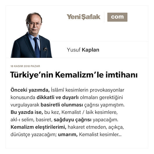 Türkiye'nin Kemalizm'le imtihanı