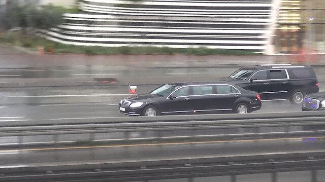 Putin'in konvoyu Şirinevler'den geçerken kameralara yansıdı