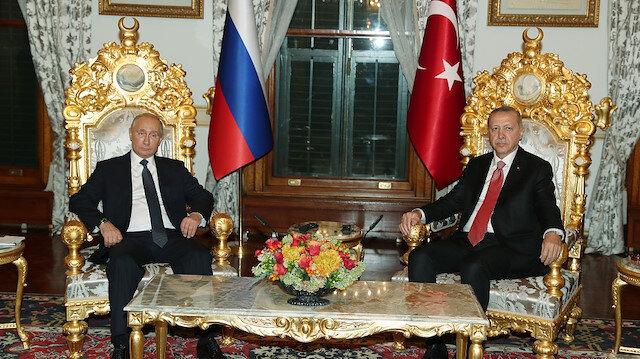 انتهاء اللقاء بين الرئيسين أردوغان وبوتين