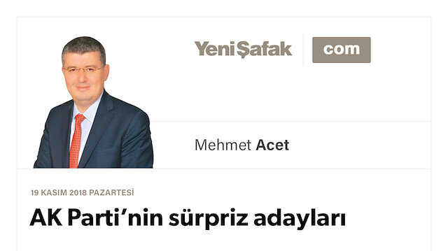 AK Parti'nin sürpriz adayları