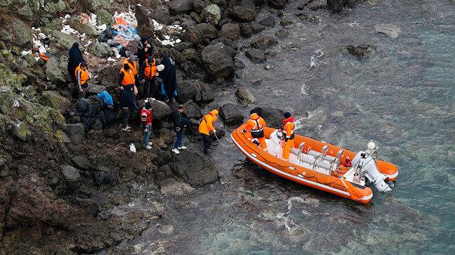 Yumurta Ada'da mahsur kalan düzensiz göçmenler kurtarıldı