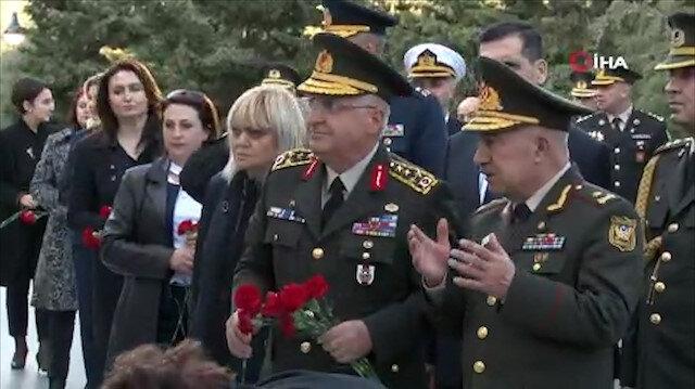 Genelkurmay Başkanı Güler Azerbaycan ve Türk şehitliklerini ziyaret etti