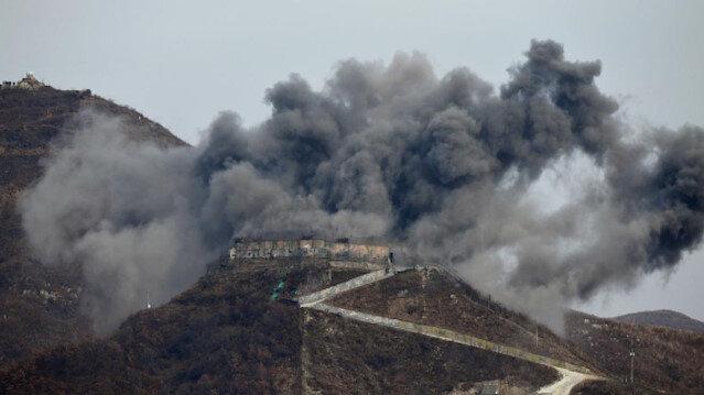 North Korea destroys 10 border guard posts