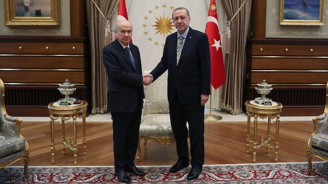 Erdoğan-Bahçeli çarşamba günü görüşecek