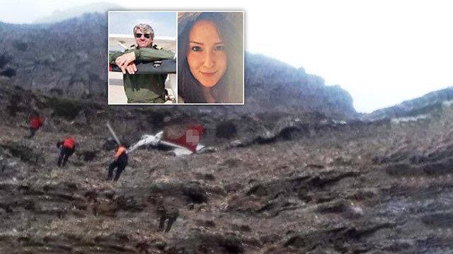 Düşen eğitim uçağında 2 kişinin cesedine ulaşıldı