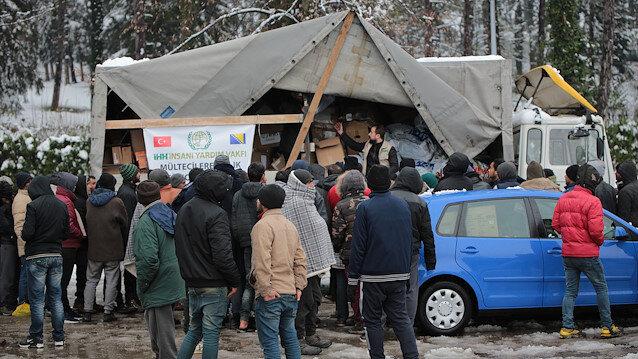 Turkish NGO distributes clothes in Bosnia-Herzegovina