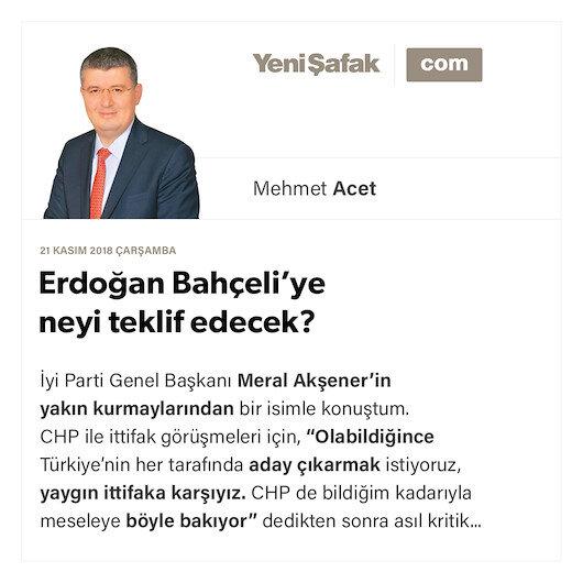 Erdoğan Bahçeli'ye neyi teklif edecek?