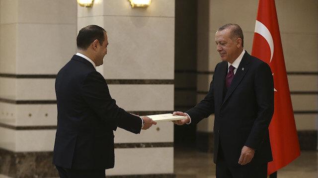 سفير جورجيا الجديد يُقدم أوراق اعتماده للرئيس أردوغان