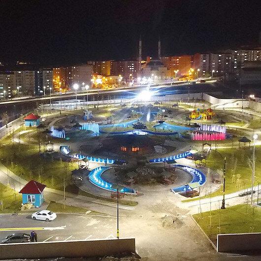 Hilalkent Park'a özel ışık gösterisi