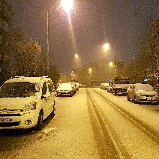 Erzurum'da yoğun kar yağışı