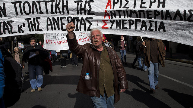 Yunanistan grevde: Atina'da hayat durdu