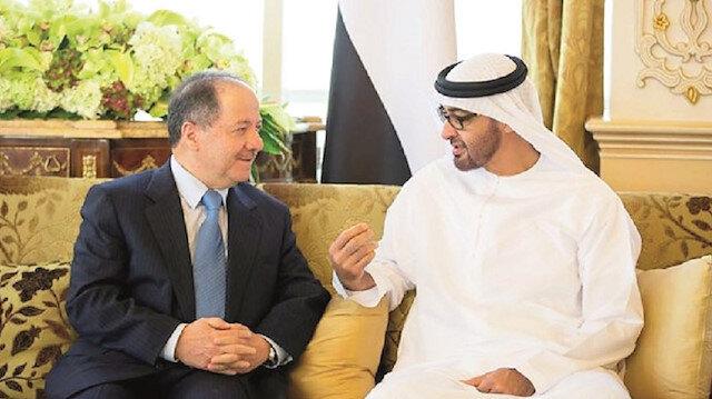 Masoud Barzani and Mohammed bin Zayed