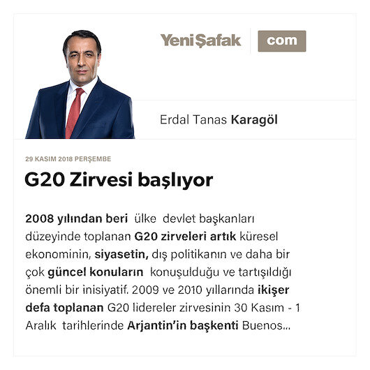 G20 Zirvesi başlıyor