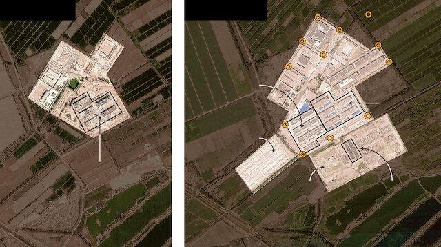 Doğu Türkistanlıların kaldığı kamp görüntülendi: Tuvalette bile izlemişler!