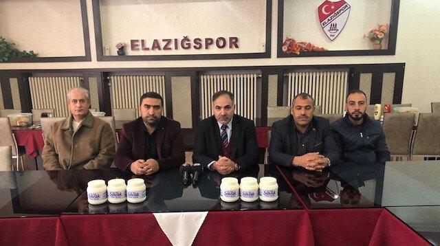 Elazığspor'a peynir desteği