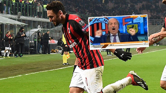 Hakan Çalhanoğlu'nun golü spikeri çıldırttı