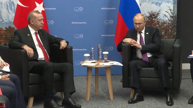 Erdoğan Rusya Devlet Başkanı Putin'le görüştü