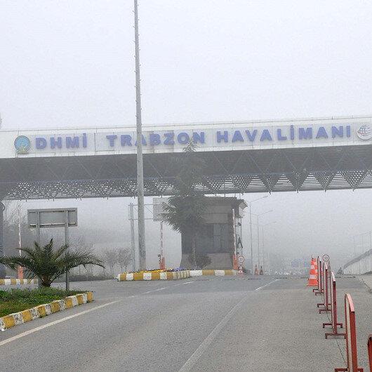 Trabzon'da hava ulaşımına yağmur ve rüzgar rötarı