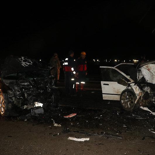 Iğdır'da iki otomobil çarpıştı: 7 yaralı