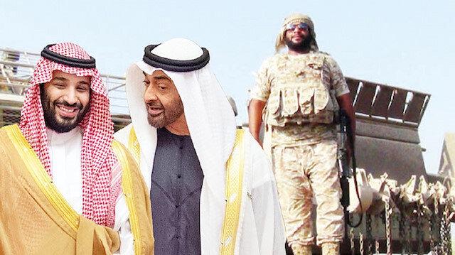 Saudi Crown Prince Mohammad bin Salman and UAE's Mohammad bin Zayed al-Nahyan