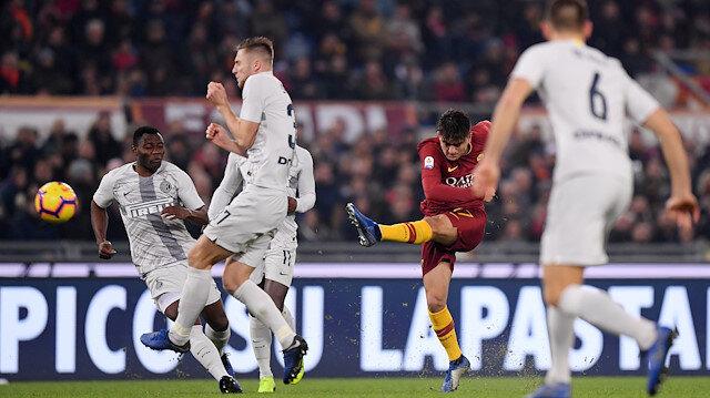 Cengiz Ünder'in Inter kalecisini çaresiz bırakan gol vuruşu.